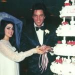 Elvis & Priscilla\'s Wedding Day  lst May, 1967   Aladin Hotel, Las Vegas