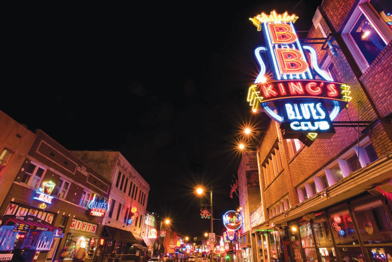 Night time in Beale Street